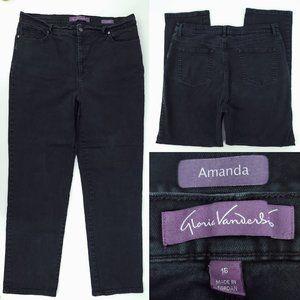 Gloria Vanderbilt Amanda Black Denim Jeans 35x30